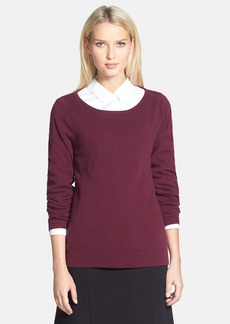 Nordstrom Collection Ballet Neck Cashmere Sweater