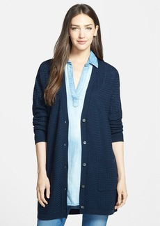 Nordstrom Collection Basket Weave Cotton Cardigan