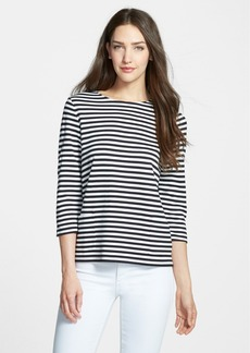 Nordstrom Collection 'Bianca' Stripe Jersey Tee