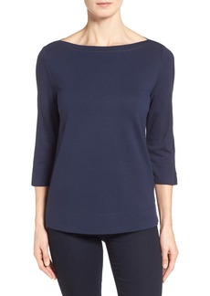 Nordstrom Collection 'Bianca' Three Quarter Sleeve Jersey Top