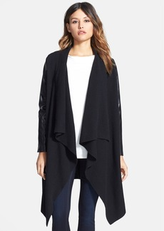 Nordstrom Collection Cashmere & Leather Sweater Coat