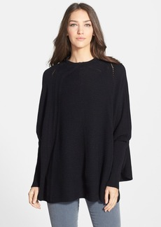 Nordstrom Collection Cashmere Placed Cable Poncho