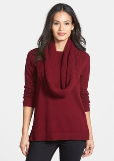 Nordstrom Collection Cashmere Sweater with Removable Cowl