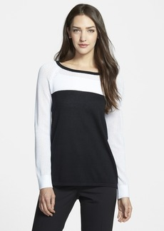 Nordstrom Collection Colorblock Boatneck Pullover