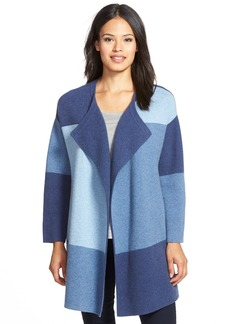 Nordstrom Collection Colorblock Wool & Cashmere Sweater Jacket