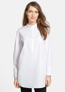 Nordstrom Collection Cotton Poplin Tunic Shirt