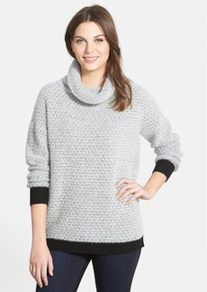 Nordstrom Collection Cowl Neck Bouclé Cashmere Sweater