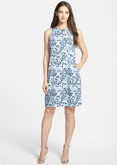 Nordstrom Collection 'Darlington' Print Pleat Back Silk Dress