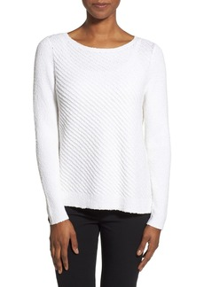 Nordstrom Collection Diagonal Rib Sweater