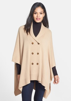 Nordstrom Collection Double Breasted Cashmere Poncho Cardigan
