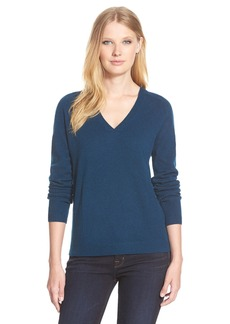 Nordstrom Collection Double V-Neck Cashmere Sweater