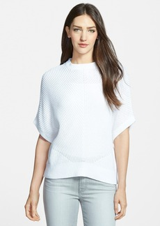 Nordstrom Collection Elbow Sleeve Cotton Pullover