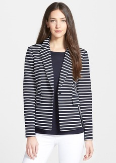 Nordstrom Collection 'Ester' Stripe Ponte Jacket