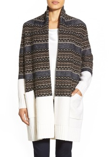 Nordstrom Collection Fair Isle Long Wool & Cashmere Cardigan