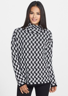 Nordstrom Collection Funnel Neck Cable Cashmere Sweater