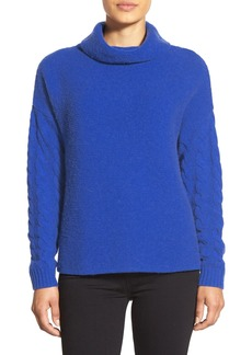 Nordstrom Collection Funnel Neck Wool & Cashmere Sweater
