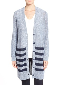 Nordstrom Collection 'Glosso' Stripe Cardigan