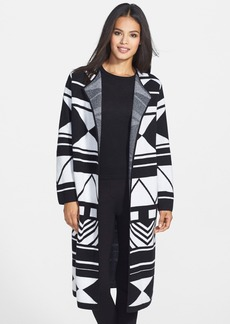 Nordstrom Collection Jacquard Cashmere Long Cardigan