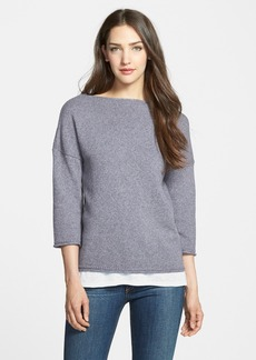 Nordstrom Collection 'Lapis' Bateau Neck Pullover