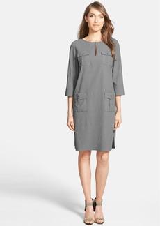 Nordstrom Collection Linen Blend Pockets Shift Dress