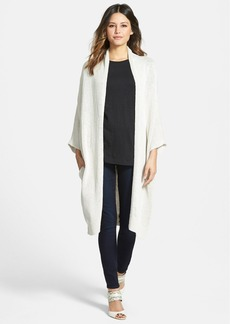 Nordstrom Collection Long Linen & Silk Cardigan