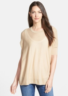 Nordstrom Collection 'Lula' Open Stitched Yoke Pullover Sweater