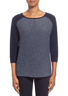 Nordstrom Collection Mix Stitch Wool & Cashmere Sweater