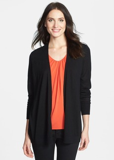 Nordstrom Collection Mixed Media Silk & Cashmere Cardigan