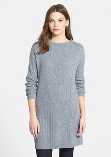 Nordstrom Collection Novelty Stitch Cashmere Tunic Sweater