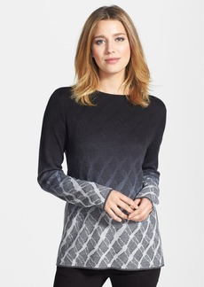 Nordstrom Collection Ombré Jacquard Cashmere Tunic