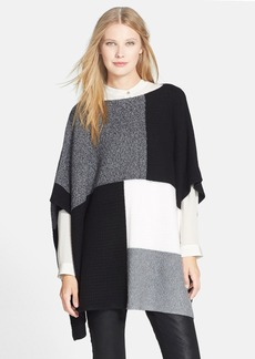 Nordstrom Collection Patchwork Stitch Cashmere Poncho