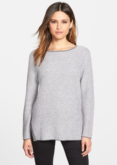 Nordstrom Collection Plait Stitch Cashmere Sweater