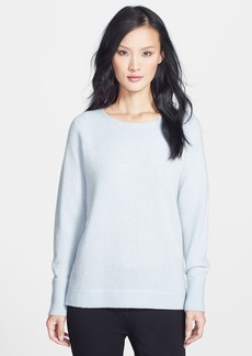 Nordstrom Collection Pleat Back High-Low Cashmere Sweater
