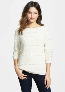 Nordstrom Collection Pointelle Stitch Boatneck Sweater