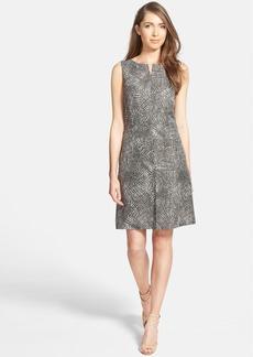 Nordstrom Collection Print Silk & Linen A-Line Dress
