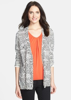 Nordstrom Collection Print Woven Back Silk & Cashmere Cardigan