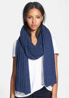 Nordstrom Collection Rib Knit Cashmere Wrap