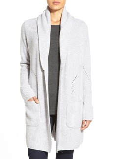 Nordstrom Collection Shawl Collar Long Cashmere Cardigan
