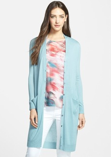 Nordstrom Collection Silk Blend Long Cardigan