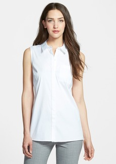 Nordstrom Collection Sleeveless Poplin Shirt