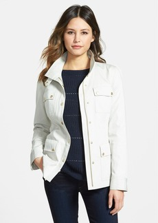 Nordstrom Collection Stand Collar Cotton Military Jacket