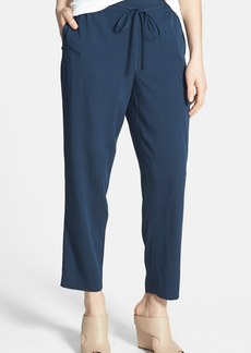Nordstrom Collection Stretch Silk Drawstring Pants