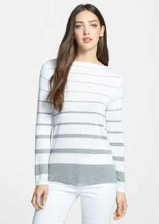 Nordstrom Collection Stripe Boatneck Pullover
