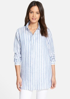 Nordstrom Collection Stripe Linen Tunic