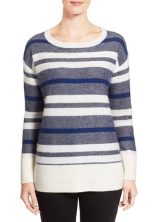 Nordstrom Collection Stripe Wool Blend Pullover