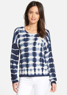 Nordstrom Collection Tie Dye Silk & Cashmere Cable Sweater
