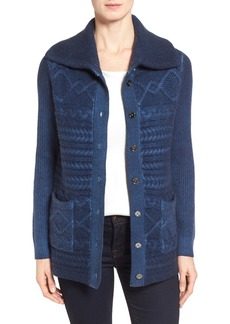 Nordstrom Collection Wool & Cashmere Cable Knit Cardigan