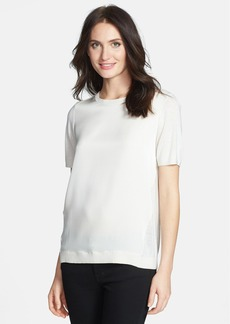 Nordstrom Collection Woven Front Silk & Cashmere Sweater