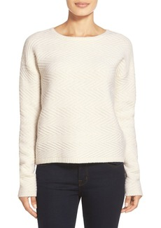 Nordstrom Collection Zigzag Stitch Cashmere Sweater