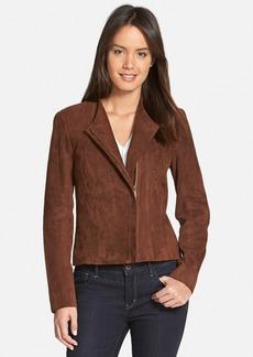 Nordstrom Collection Zip Front Suede Jacket